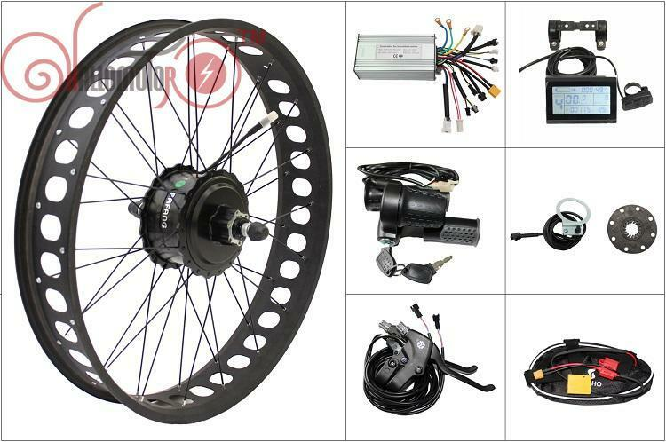 36 48v 750w bafang freehub fat tire rear wheel ebike for Fat bike front hub motor