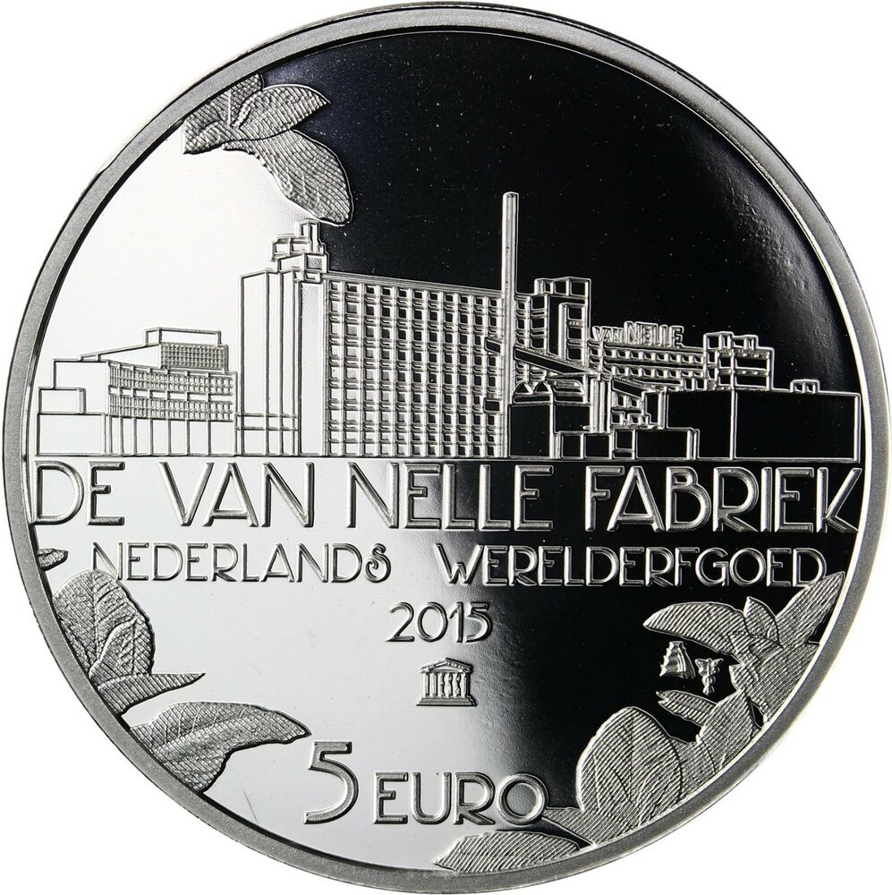 niederlande 5 euro 2015 pp silberm nze van nelle fabrik im folder ebay. Black Bedroom Furniture Sets. Home Design Ideas