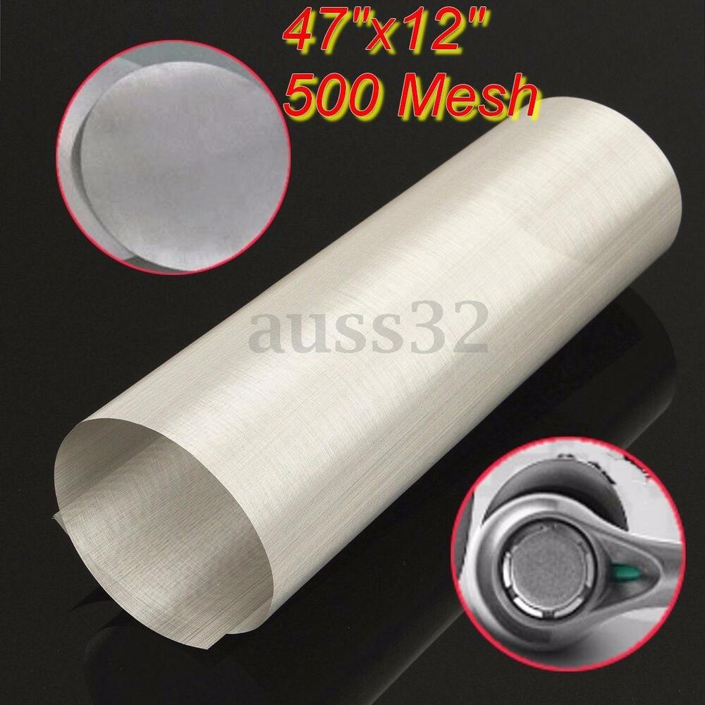 47x12 500 Mesh 25 Micron Stainless Steel Rosin Bag Pouch