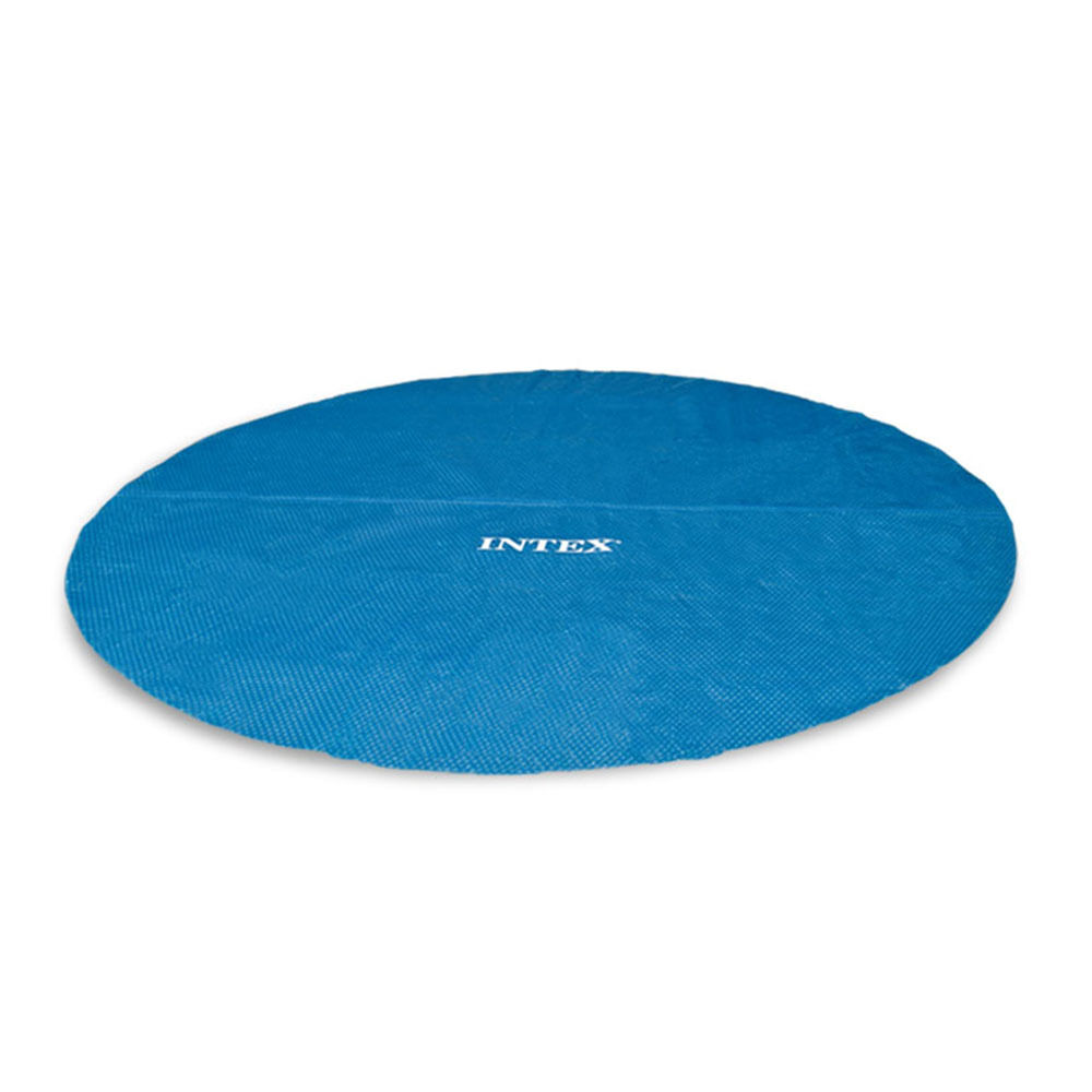 Intex 15 Foot Round Easy Set Vinyl Solar Cover For Swimming Pools Blue 29023e Ebay