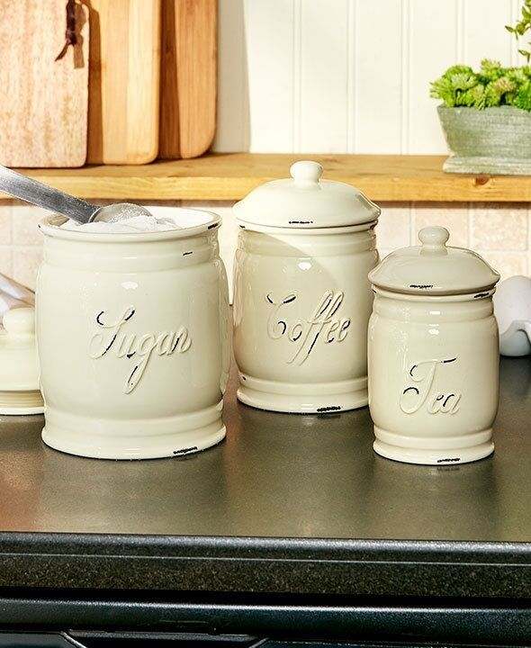 white kitchen canisters sets set 3 classic white ceramic kitchen sugar coffee tea canister storage jars new ebay 7205