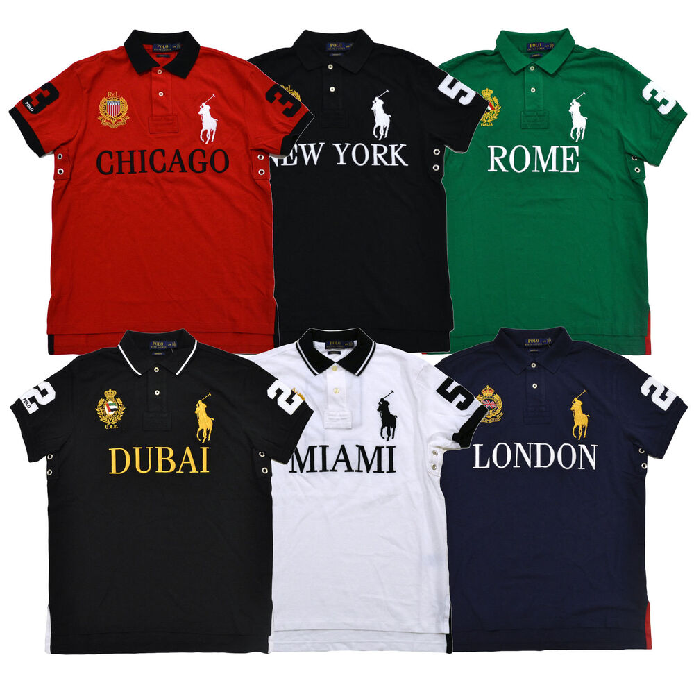 Polo ralph lauren big pony polo shirt men 39 s custom fit for Ralph lauren custom fit mesh polo shirt