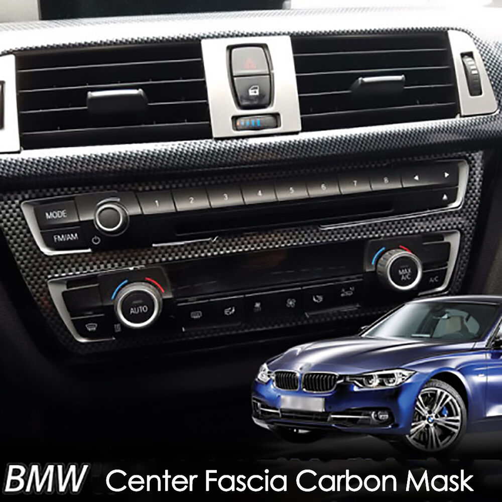 New Carbon Fiber Center Dashboard Consol Cover For BMW