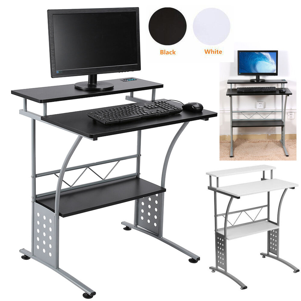 Modern small computer desk home office corner pc laptop for Home office workstation desk