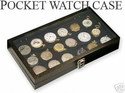 2 pocket18watch show cases display antique jewelry supply