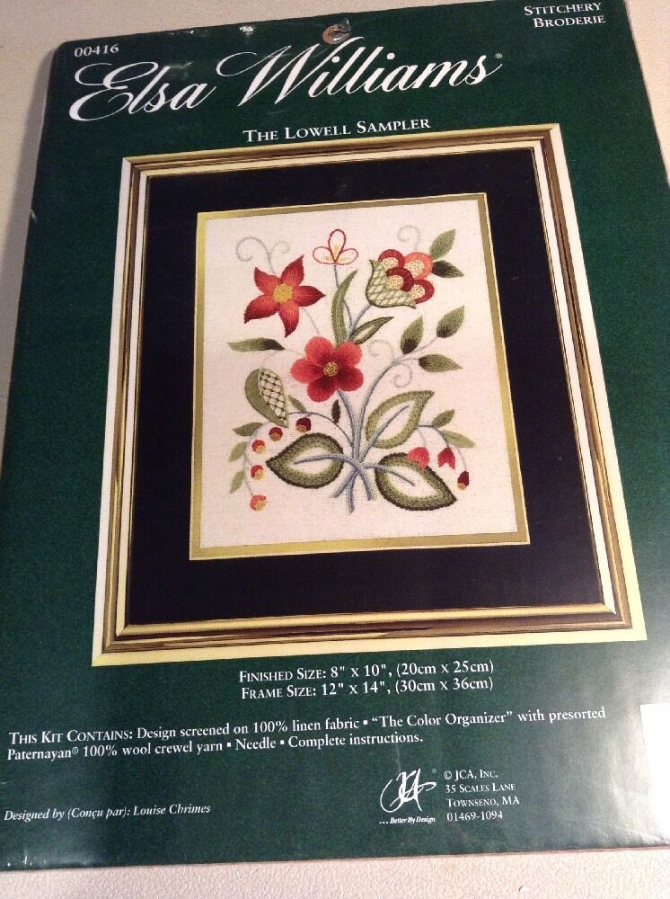 Clearance elsa williams crewel stitchery embroidery kit