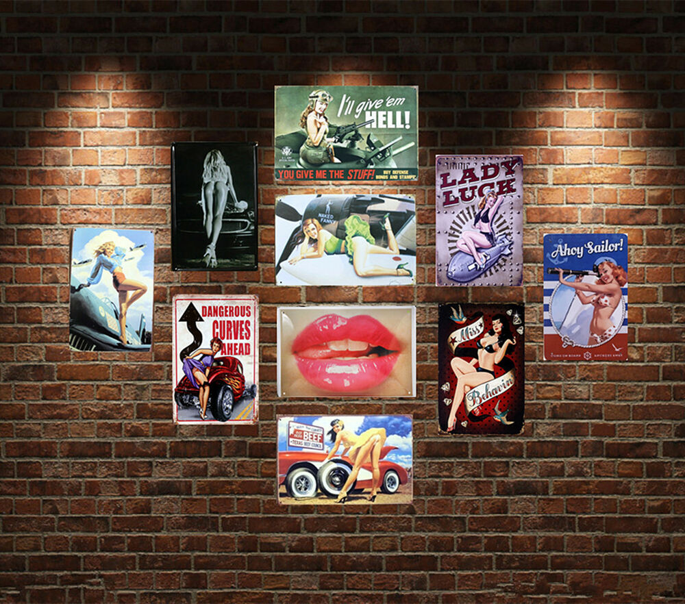 Sexy Girl Garage Vintage Metal Sign Tin Poster Decor Bar Make Your Own Beautiful  HD Wallpapers, Images Over 1000+ [ralydesign.ml]