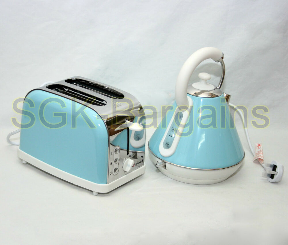 Matching kitchen set 1 8l electric cordless kettle 2 slice for Kitchen set kettle toaster microwave