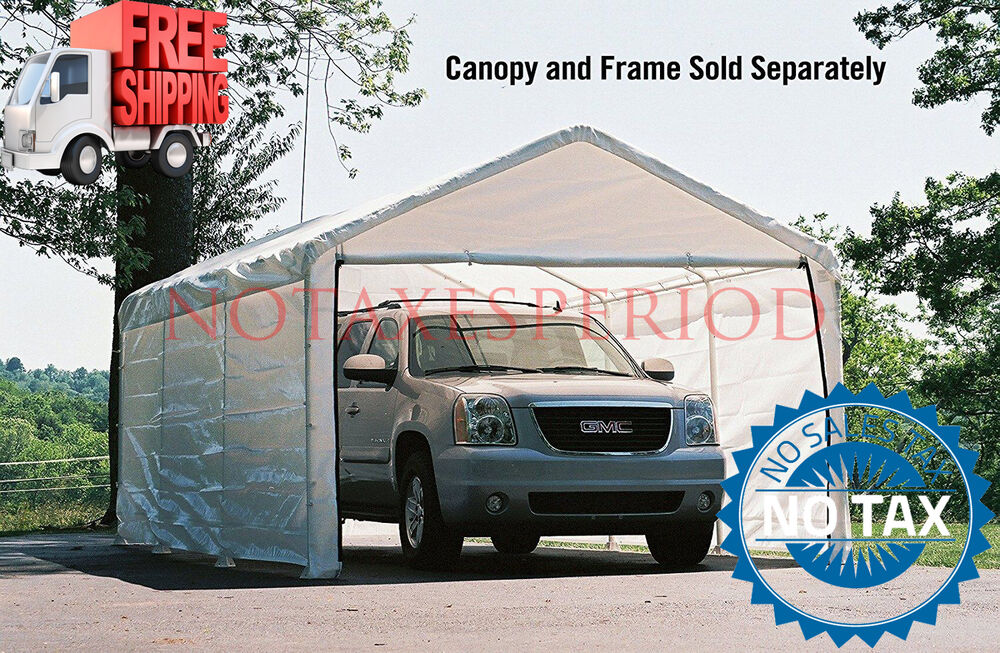 Tent Garage Kits : Outdoor canopy enclosure kit only car shelter