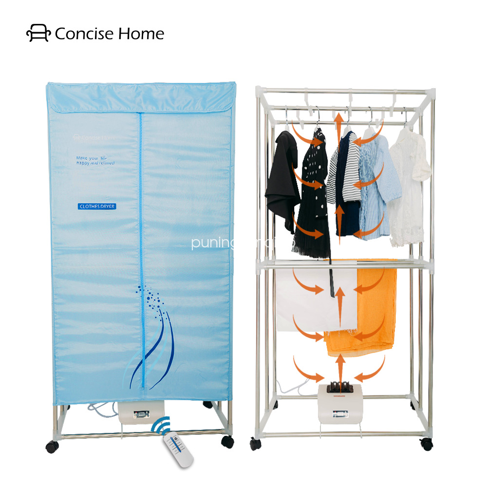 Clothes Drying Machine ~ Concise home foldable electric clothes dryer stainless