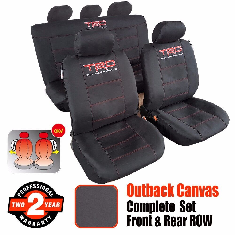 new outback canvas trd sports car seat cover car interior accessories for toyota ebay. Black Bedroom Furniture Sets. Home Design Ideas