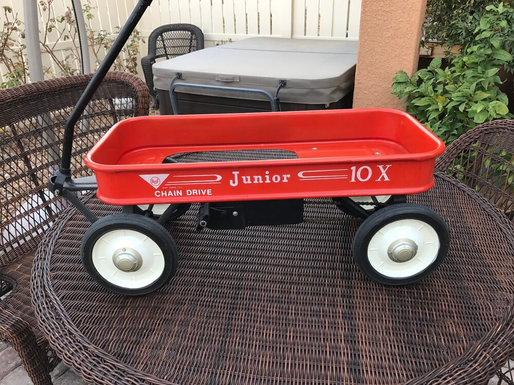 Vintage Pedal Car Parts : Vintage amf junior chain drive pedal wagon olney