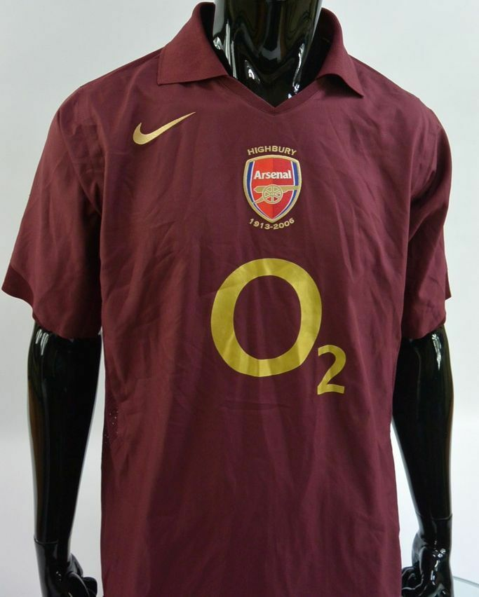 ce963634fdf Details about GUNNERS SHIRT HIGHBURY 1913-2006 NIKE Arsenal FC Player Issue JERSEY  SIZE L