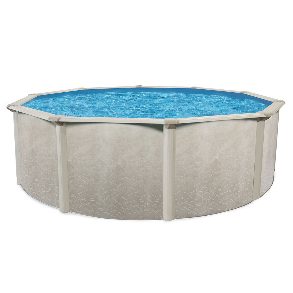 Cornelius pools phoenix 15 39 x 52 round steel frame above for On ground pools