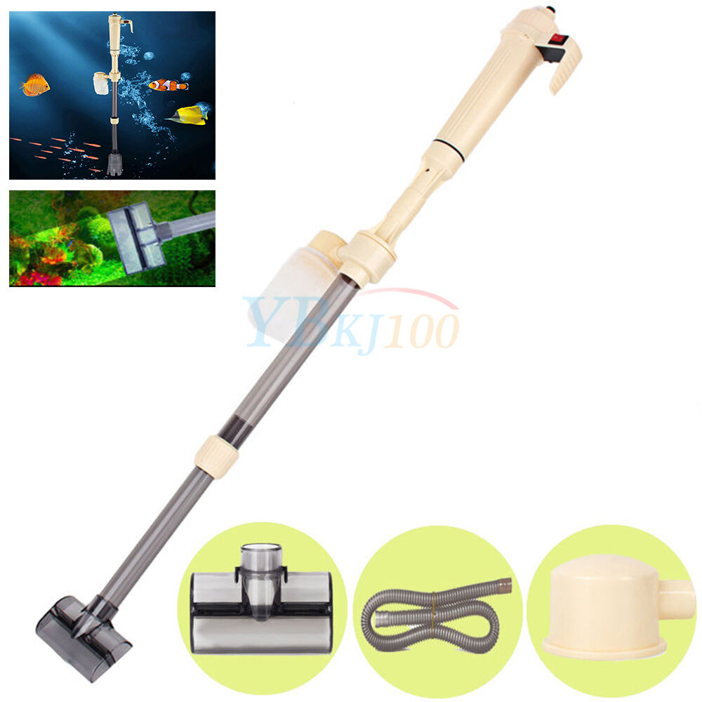 electric aquarium gravel fish tank vacuum syphon cleaner
