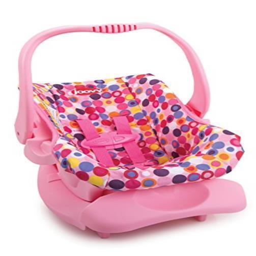 Doll Or Stuffed Toy Car Seat Pink Dot Comfort Comfortable ...