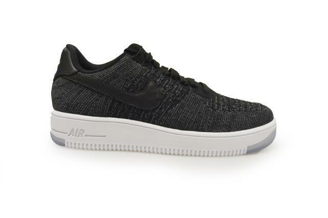 detailed look b7b40 6fe97 Womens Nike Air Force 1 Flyknit Low - 820256 001 - Black White Grey  Trainers   eBay