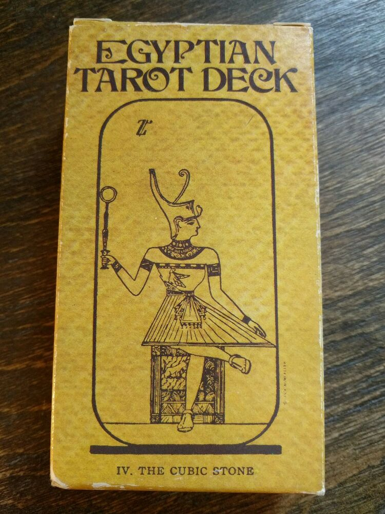Egyptian Tarot Kit Deck Book Loscar: Egyptian Tarot Deck 1980 *AGMuller* PAPYRUS Effect! King