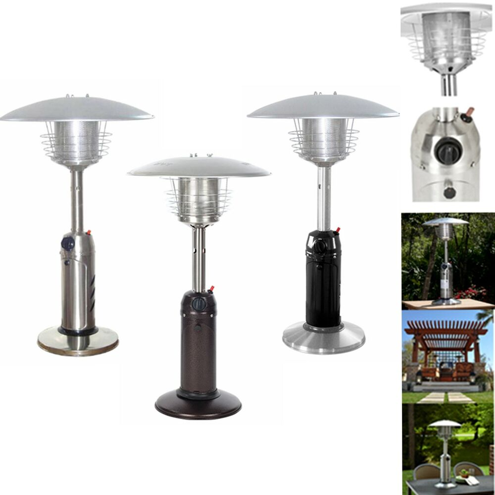 Table Top Patio Heater Garden Outdoor Propane Safety