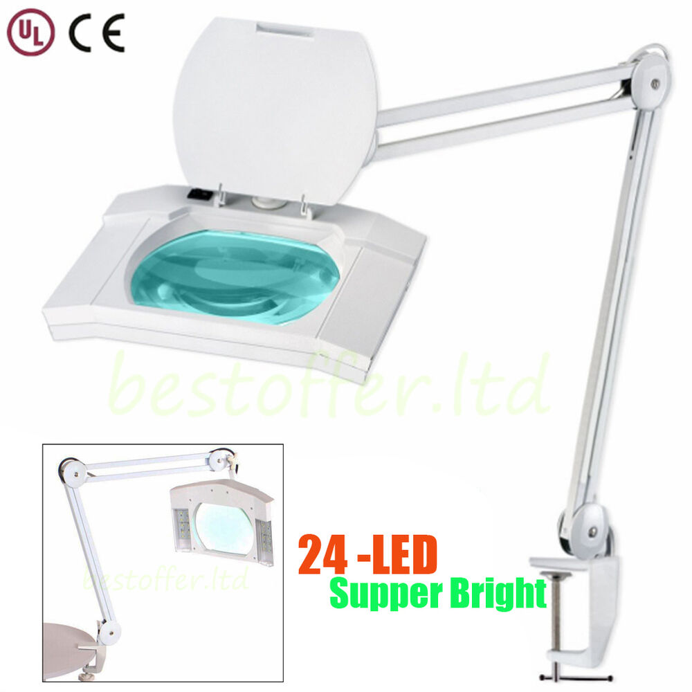 Led magnifying light tabletop gooseneck lamp magnifier 5x 10x desk - Super Bright Pro Led Magnifier Desk Lamp Magnifying Table