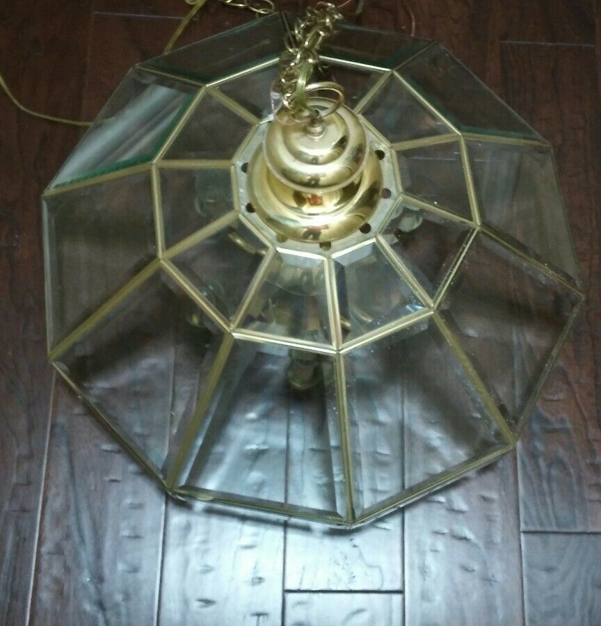 Vintage Brass Gold 7 Light Hanging Ceiling Fixture ...