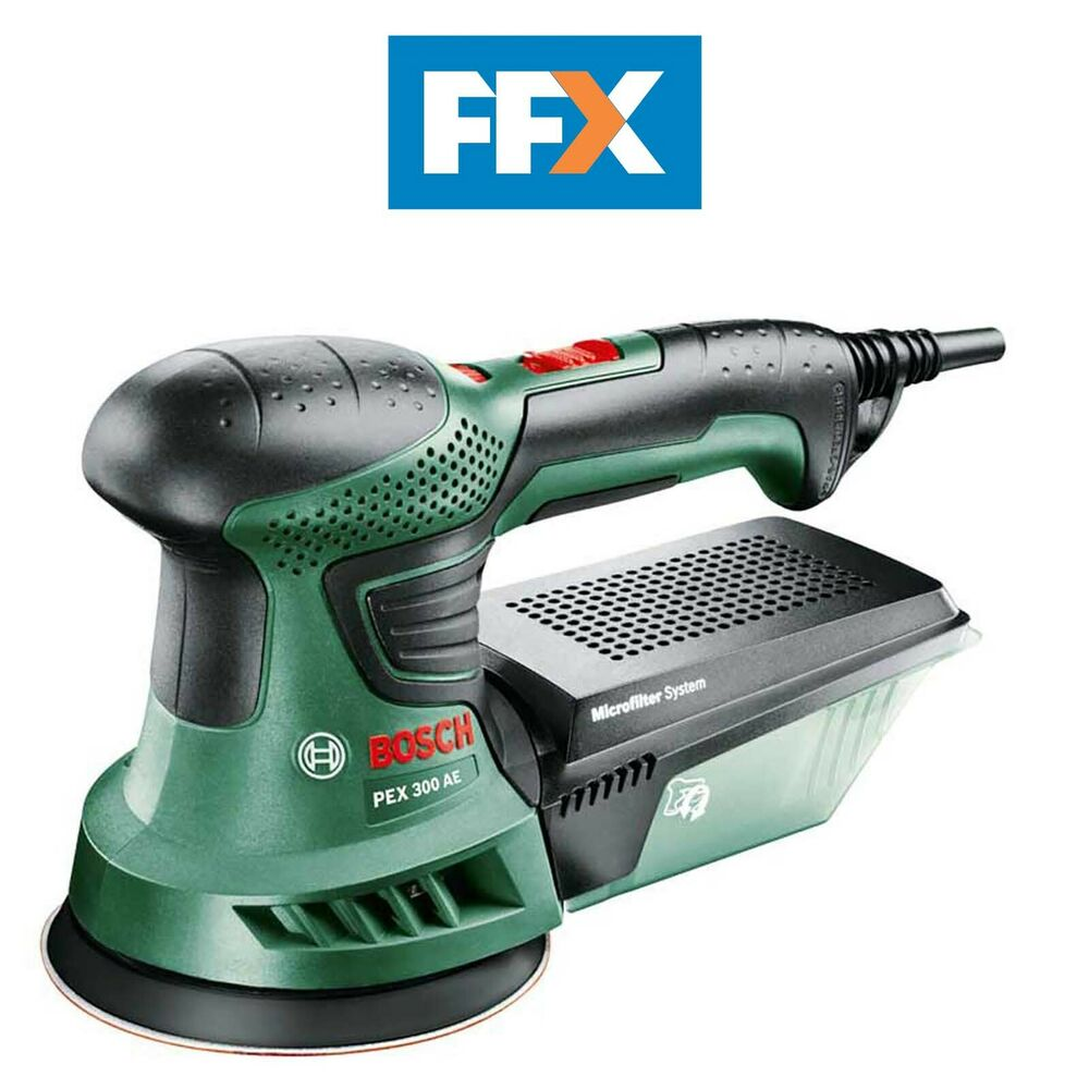 bosch green pex 300 ae 240v 125mm random orbit sander. Black Bedroom Furniture Sets. Home Design Ideas