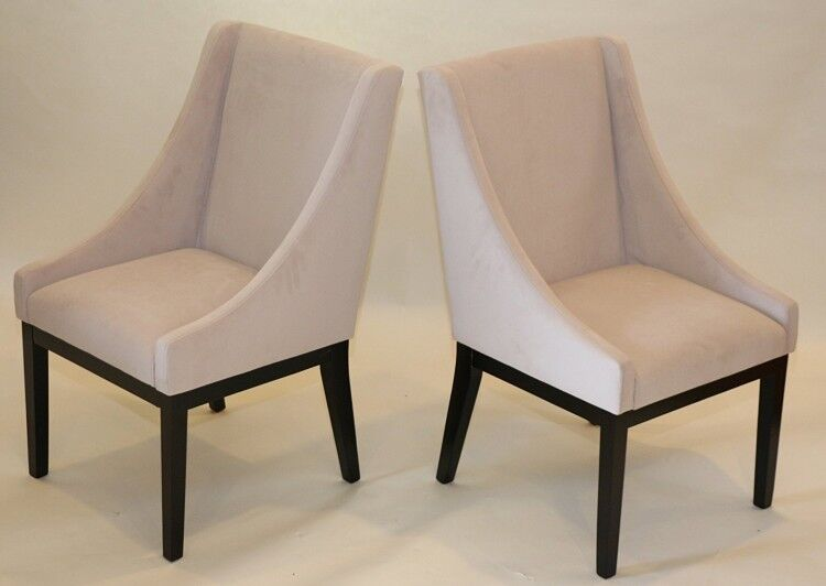 Living Room Accent Chair Set Of 2 Dining Modern Armchair Side Arm Chairs Brown Ebay