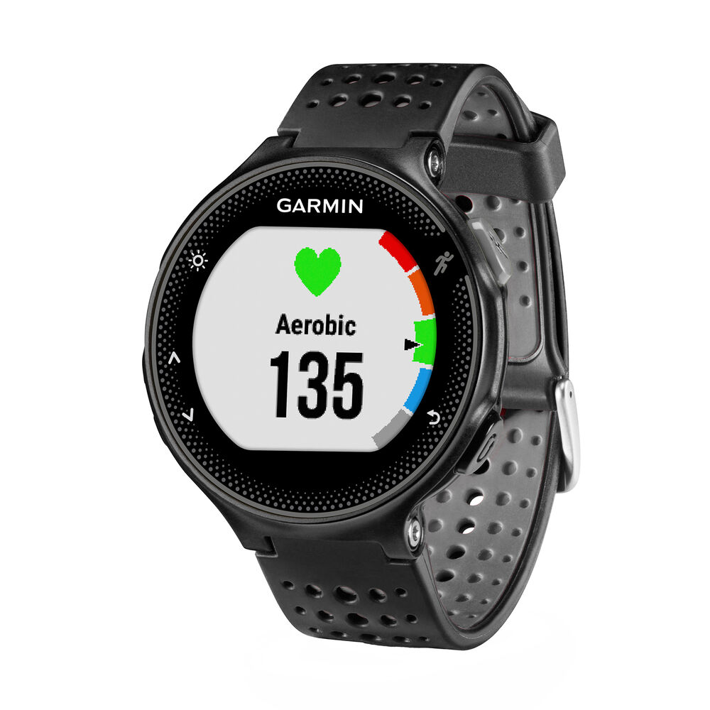 Garmin forerunner 235 gps running watch activity tracker black and grey ebay for Watches garmin