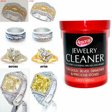 Jewelry Cleaner Solution  Clean all Jewelry Gold Silver & Diamonds NO SALES TAX