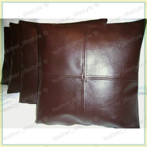 new genuine soft lambskin pure leather pillow cushion cover all sizes ps04 ebay. Black Bedroom Furniture Sets. Home Design Ideas