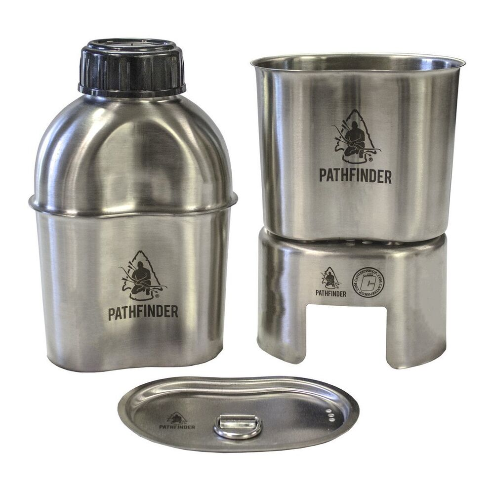 U S Cooking: Pathfinder Stainless Steel Canteen Cooking Set