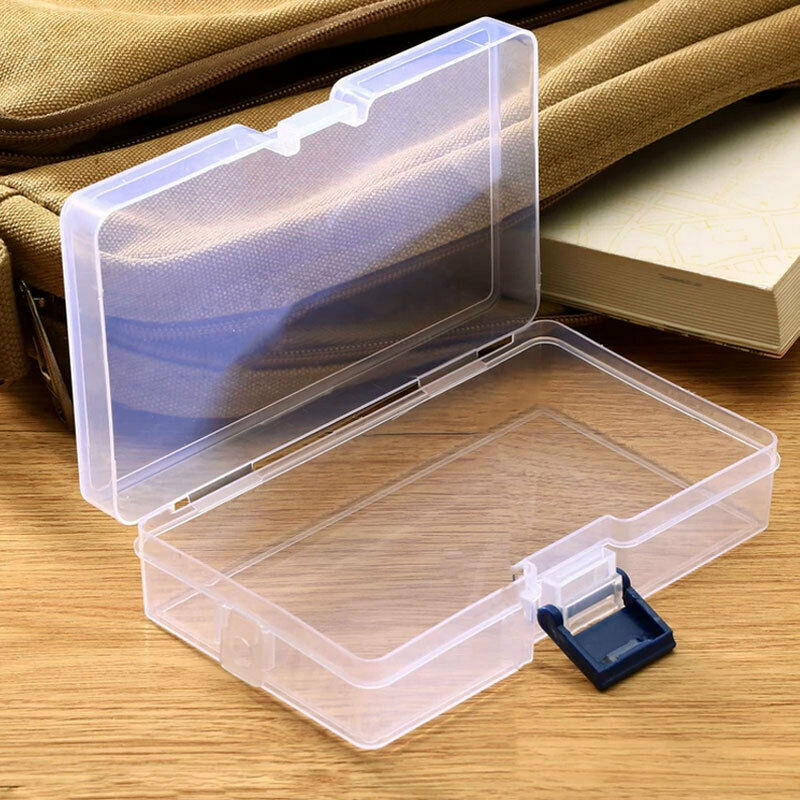 clear plastic boxes plastic clear storage box jewelry craft nail arts 29446