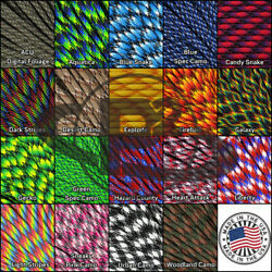 550 paracord parachute survival cord outdoor nylon rope 10ft 20ft 50ft 100ft
