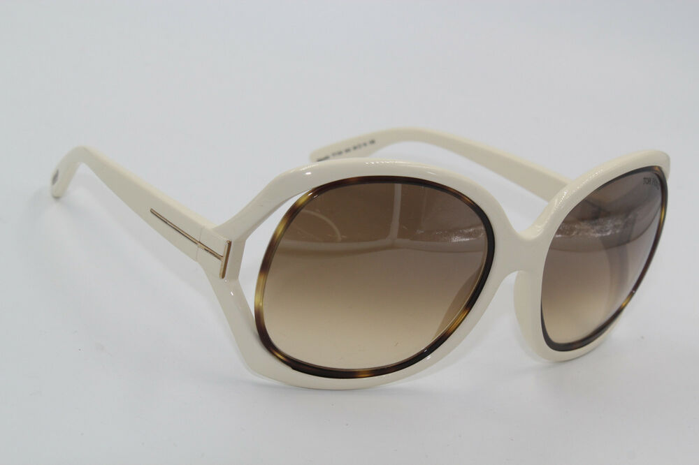 6189c4d0a2 TOM FORD JAQUELIN TF 100 342 BEIGE SUNGLASSES AUTHENTIC 59-19 W CASE ...
