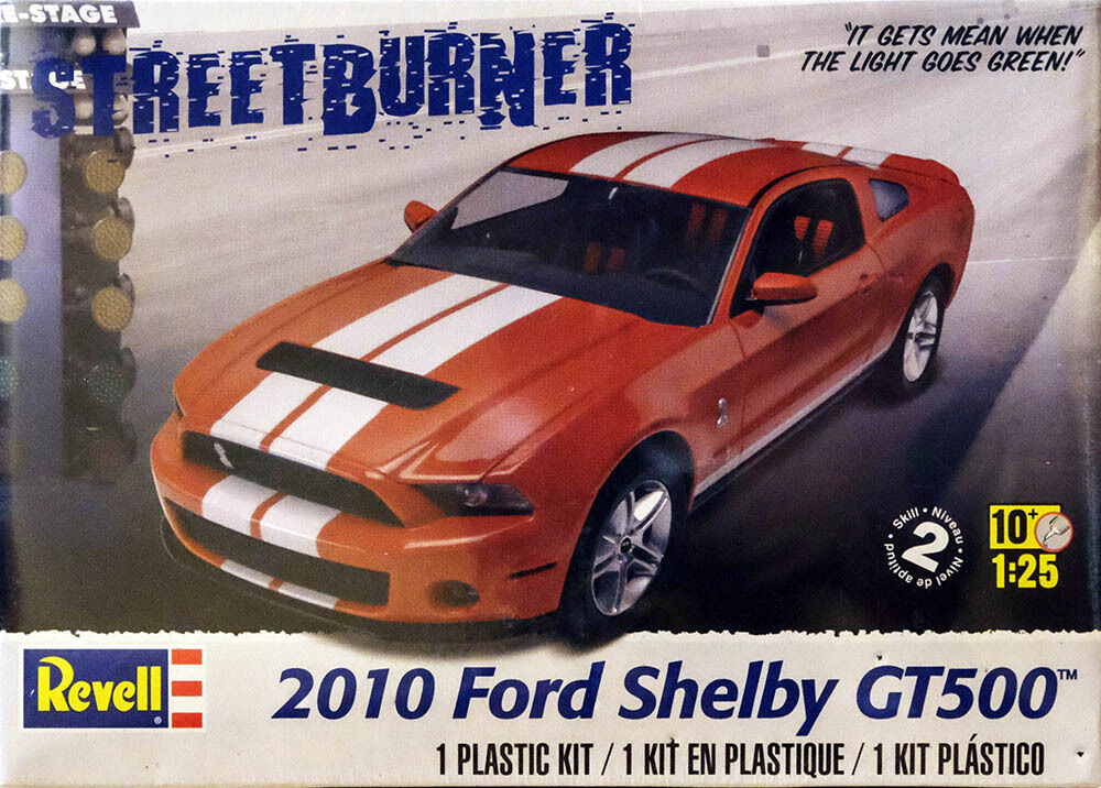 2010 ford mustang shelby gt500 1 25 model kit bausatz. Black Bedroom Furniture Sets. Home Design Ideas