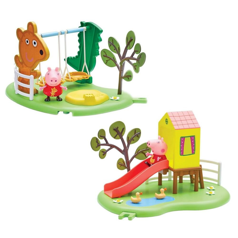 Outside Play Ground Toys : Peppa pig outdoor fun playground slide see saw or swing