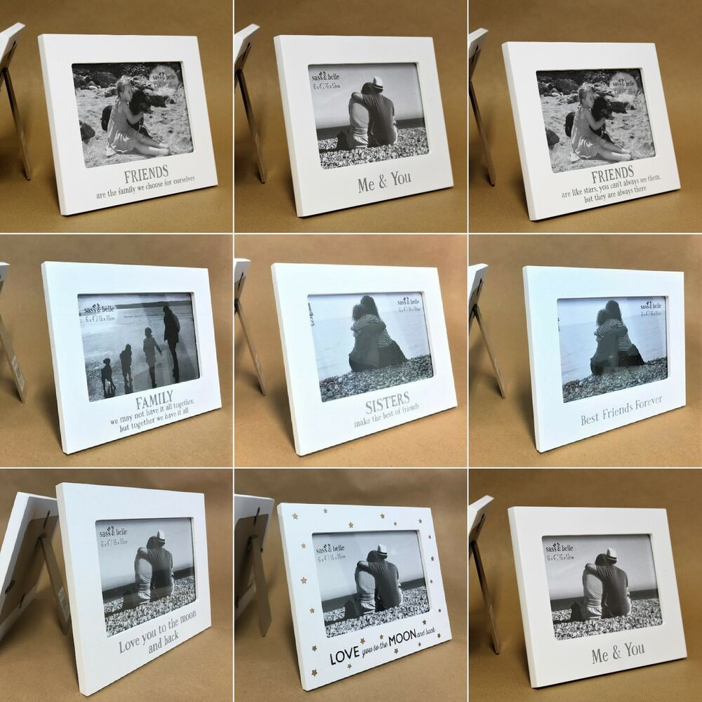 White Wood Picture Photo Frames Home Decoration Wedding Gift For