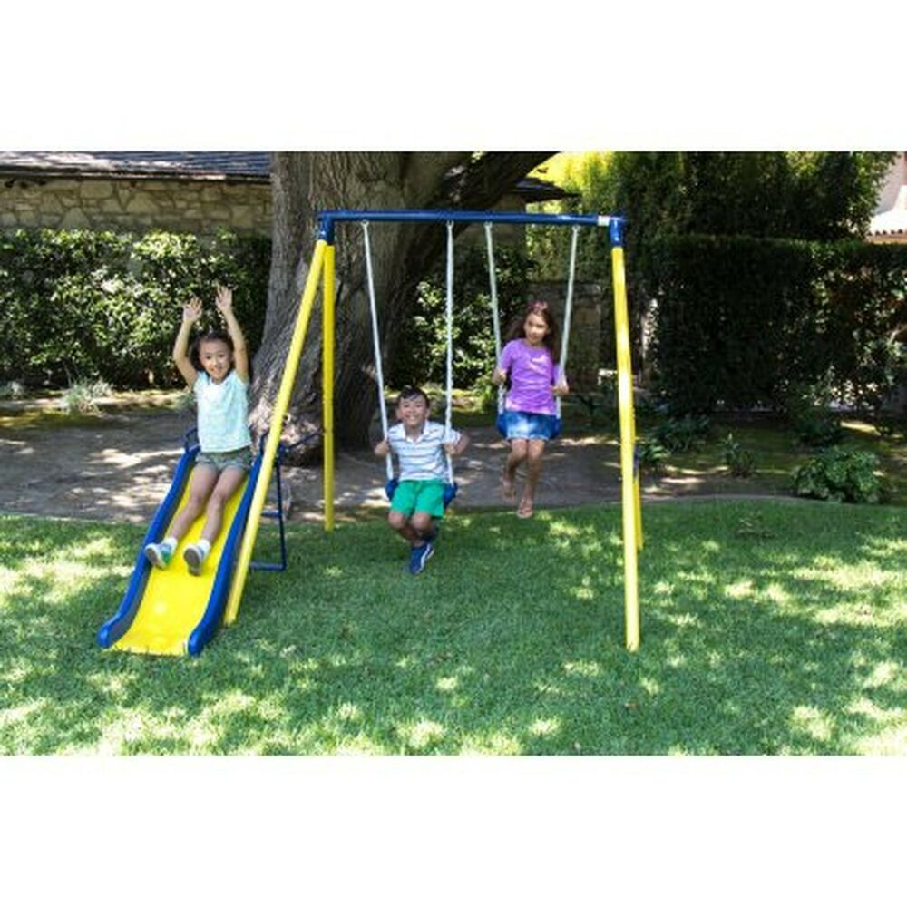 Sportspower Power Play Time Metal Swing Set Outdoor Kids