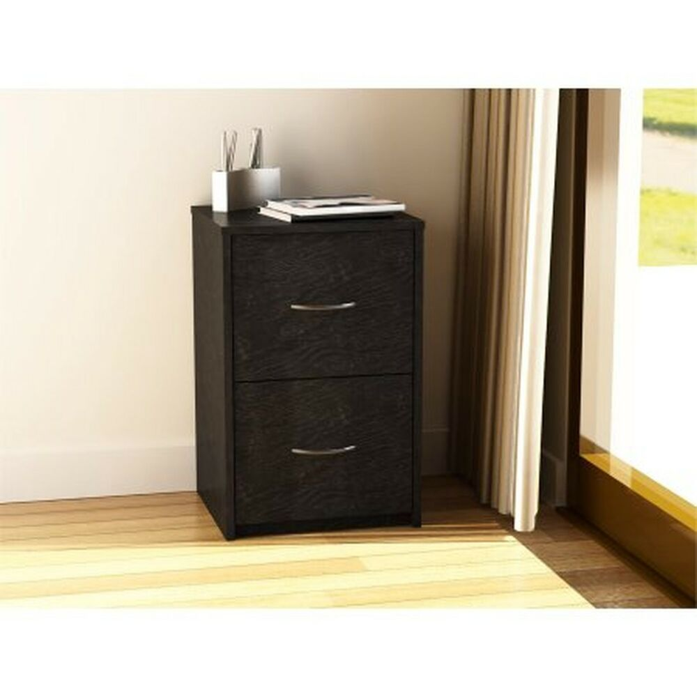 2 Drawer File Cabinet Black Filing Storage Office Vertical