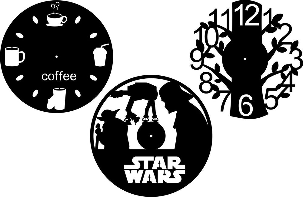 Dxf Cdr And Eps File For Cnc Plasma Or Laser Cut Clock