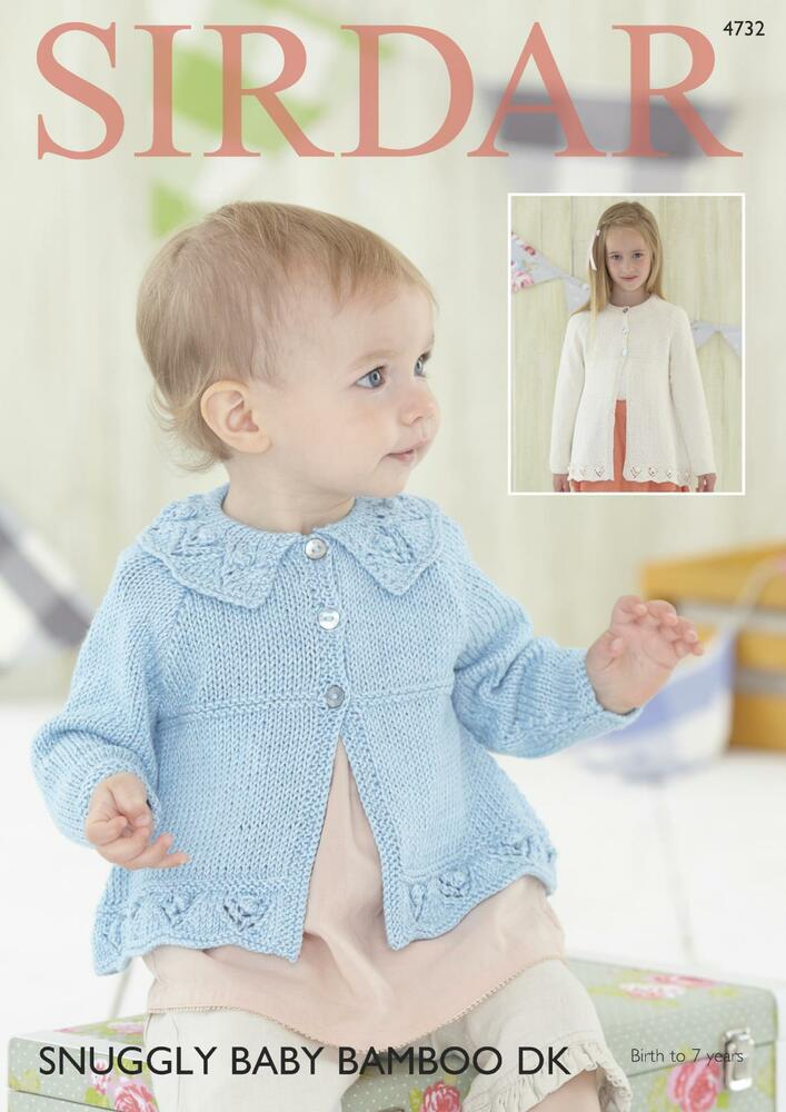 Sirdar Knitting Pattern Help : Sirdar 4732 Knitting Pattern Baby & Girls Cardigans in ...