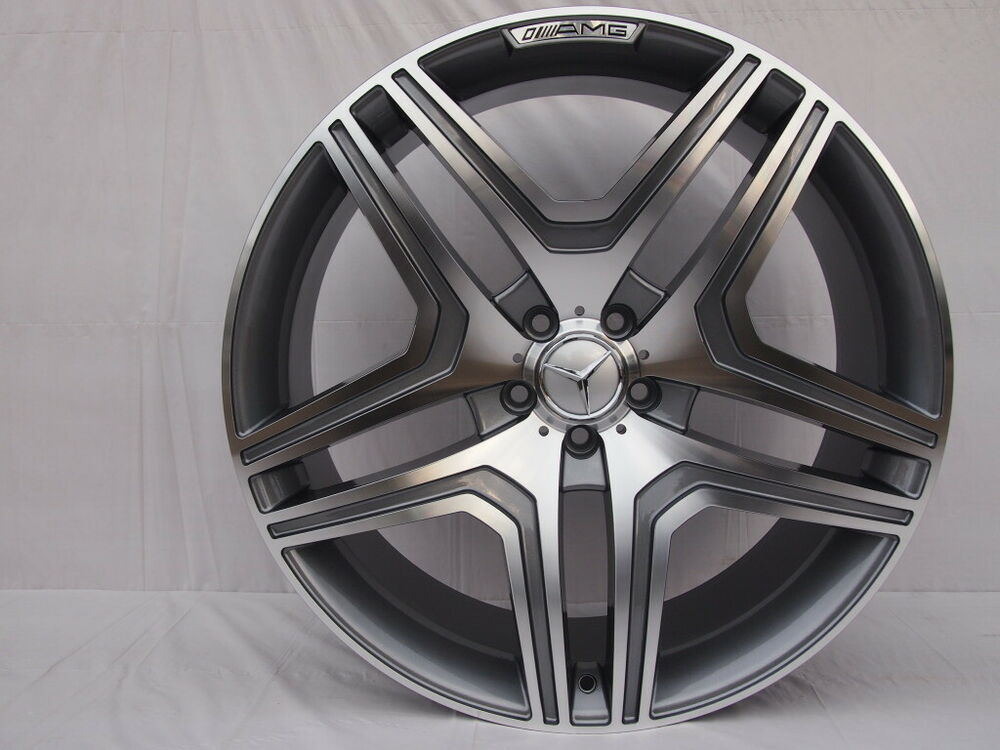 20 ml63 amg style gunmetal wheels rims fits mercedes benz for Mercedes benz wheel