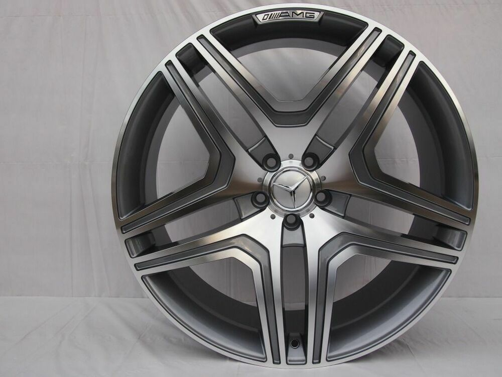 22 ml63 amg style gunmetal wheels rims fits mercedes benz for Mercedes benz 17 amg rims