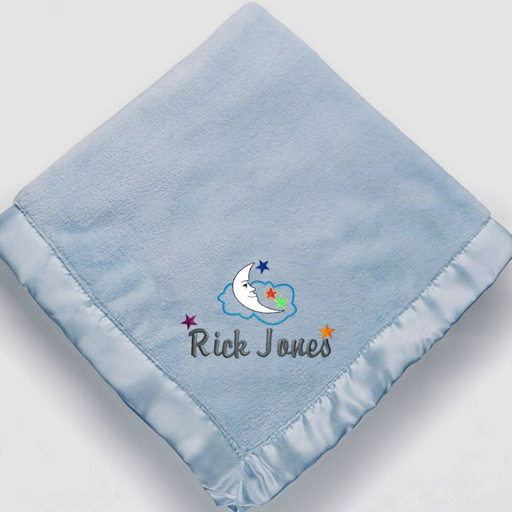 Personalized Monogrammed Baby Blanket For Boys