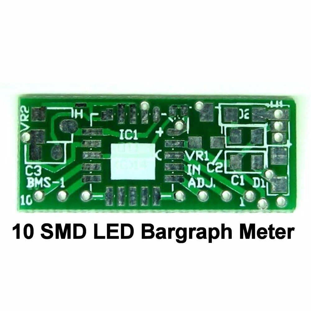 10 Smd Led Bargraph Display Meter Pcb Diy Lm3914 Linear Bar Graph Smt Dip Pcba Suitable For Camera Circuit Board And Electronic Voltage Ebay
