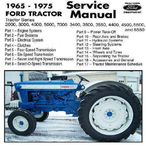 Ford Tractor 2000 3000 4000 5000 3400 3500 3550 4400 4500