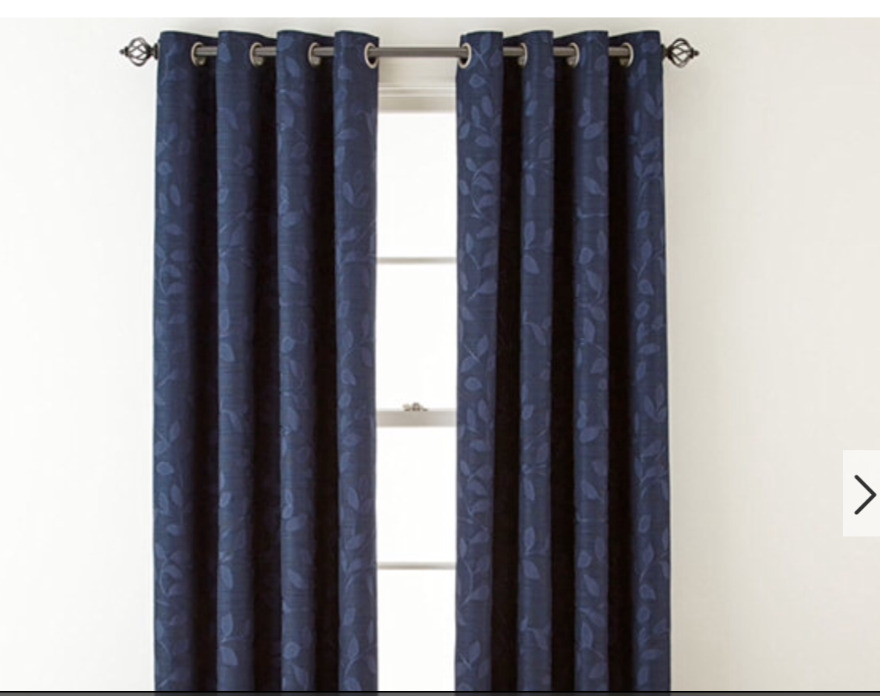 Jcpenney Home Quinn Leaf Grommet Top Curtain Window Panel