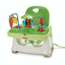 Fisher Price Rainforest Booster Seat High Chair Portable Easy Clean Eating Tray