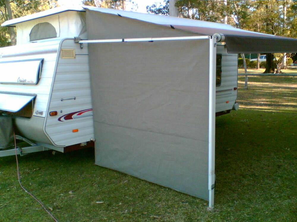 Shade Curtain Privacy Screen For Caravan R Out Awning End