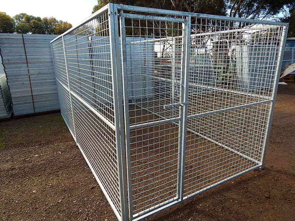 Dangerous dog puppy catrun cageenclosure kennel for Dog run cage enclosure